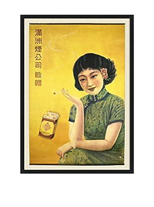 Chinese Vintage Smoking Poster, Multi