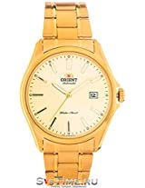 Orient Men Yellow Dial gold Strap Round Shape (SER2D002C0)
