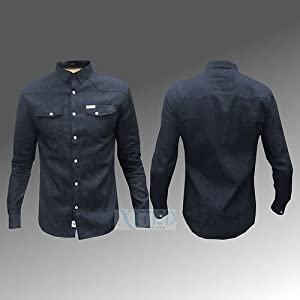 Mens Shirt Denim Soul Star Cotton Full Sleeve Formal Casual Fashion New MS ZINC