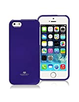 iPhone SE Case, [Low Profile] for Apple iPhone 5SE, [Pearl Glitter] MERCURY® Jelly Case TPU Case [Drop Protection] Ultra Slim TPU Case Cover [Anti-Yellowing / Discoloring Finish] - Purple