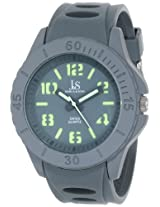 Joshua & Sons Men's JS-37-GY Silicon Luminous Swiss Quartz Sport Watch