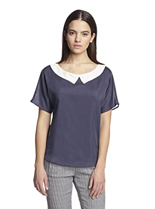 Band of Outsiders Women's Short Sleeve Top (Navy)