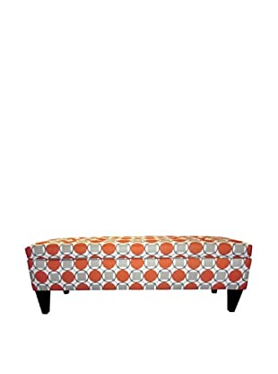 Sole Designs Brooke Button-Tufted Storage Bench, Halo Grani