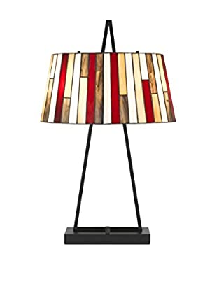 Bristol Park Lighting Matthew 2-Light Table Lamp, Black/Multi