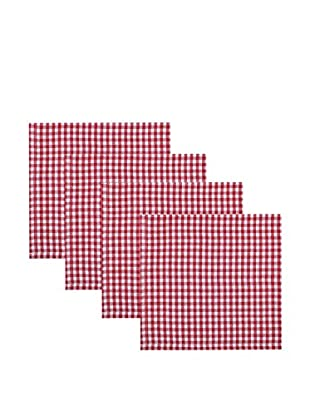 KAF Home Set of 4 Gingham Napkins