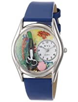 Whimsical Watches Womens S0810014 Scuba Diving Blue Skin Leather Watch