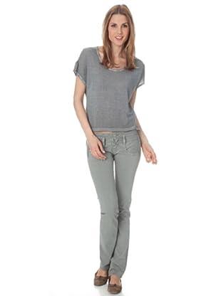 Herrlicher Oversize-Shirt Rizzi Plain (grit)