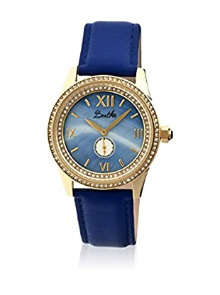 Bertha Uhr mit Japanischem Quarzuhrwerk Emma blau 42 mm