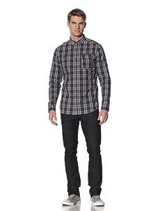 Comune Men's Carter Plaid Shirt (Navy Grey)