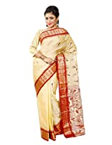 B3Fashion Handloom Traditional Ethnic Bengal Pure Tussar Silk Saree