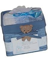 Piccolo Bambino Washcloths in Basket, 12 Piece (Blue)