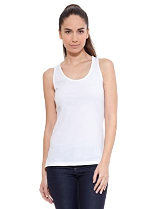 Kelme Camiseta Sin Mangas (Blanco)