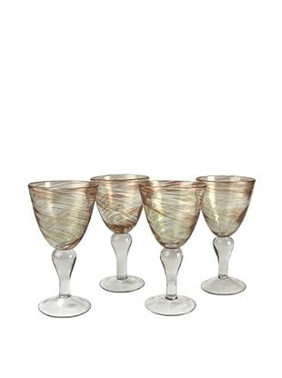 Artland Set of 4 Shimmer 12-Oz. Goblets (Clear)