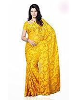 Shariyar Purple Art Silk Printed Saree PRG371