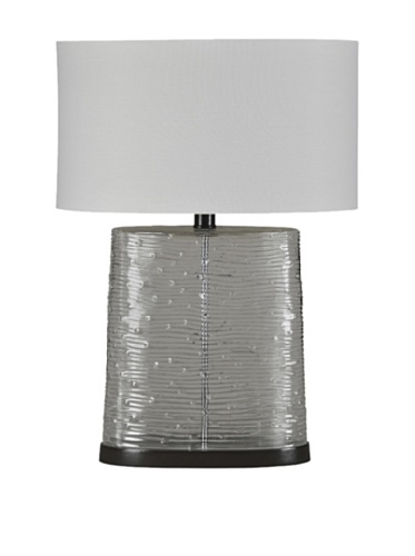 Stockholm Table Lamp, Clear/Grey
