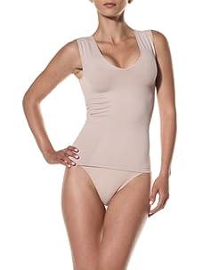 Cass Women's V-Neck Top (Nude)