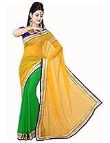 Deepika Saree Sari (Yellow and Green_G-118)