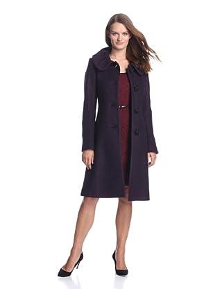 Ivanka Trump Women's Pleat Collar Coat (Violet)