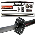 Bleach Ichigo Tensa Handmade Katana 42 Sword With Bag Stand And Box