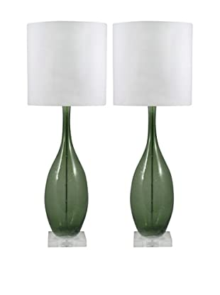 Aurora Lighting Seed Glass Table Lamp (Green)