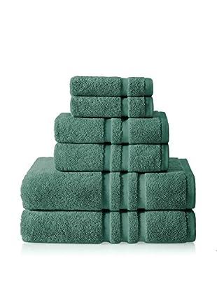 Chortex of England Irvington 6-Piece Towel Set, Forest Green