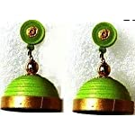 Green simple Jhumka