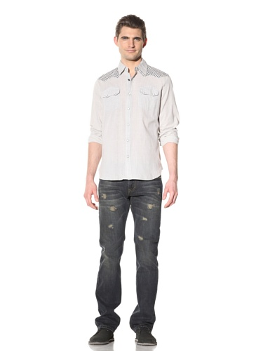 Artisan de Luxe Men's Foreman Snap-Front Shirt (Sunset Grey)