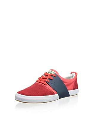 PUMA Men's EL Ace 3 Mixed Sneaker (Red/New Navy)