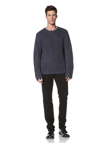 MNRKY Men's Crewneck Linen Sweater (Slate)