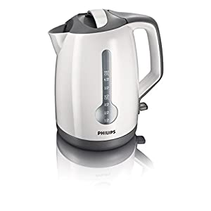 Philips HD4649 1.7-Litre 2400-Watt Concealed Element Kettle (White and Gray)