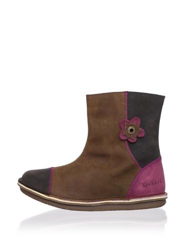 Kickers Kid's Pikpik Boot (Toddler/Little Kid/Big Kid) (Cognac/Brown)