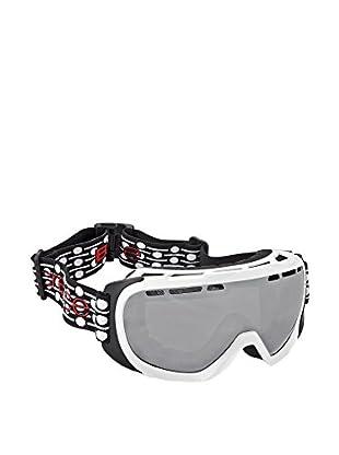 Black Crevice Máscara de Esquí Blanco / Plateado