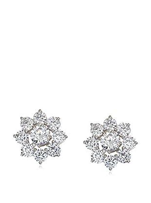 CZ by Kenneth Jay Lane Floral CZ Donut Earrings