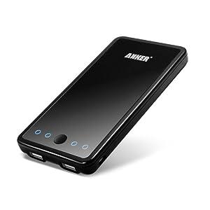 Anker Astro PowerBank 10000mAhの大容量モバイルバッテリー スマホ iPhone4 4S 3GS iPad PSPに対応 小型軽量の携帯バッテリー 通勤・出張・旅行・アウトドアーに最適! 【日本語取扱書付け】【18ヶ月の保証期間】