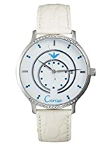 Cerise Helia Big Dial Analogue White Dial Women's Watch - CSK1122