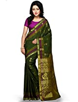 Utsav Fashion Women's Green Art Silk Saree with Blouse