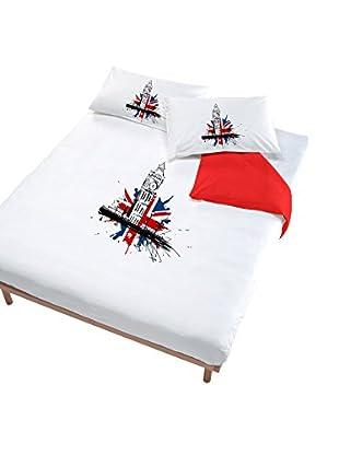 Italian Bed Linen Bettwäsche Londra Rosso
