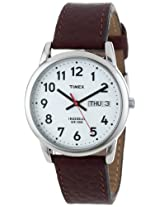 "Timex Men's T20041 ""Easy Reader"" Brown Leather Strap Watch"