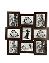 Snapgalaxy Collage Frames for Nine Pictures, Brown