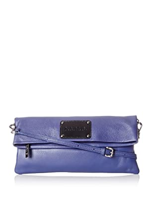 L.A.M.B. Women's Barri Cross-Body Fold Over, Indigo