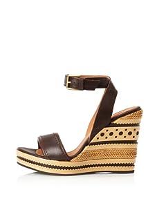 Geox Women's Peonia Wedge Sandal (Coffee)