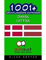 1001+ grundlæggende sætninger dansk - lettisk
