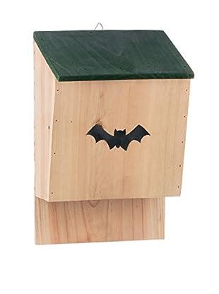 Skalny Wooden Bat House, Tan/Green