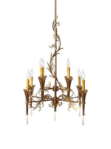 Feiss 8-Light Multi Tier Chandelier, Patina/Bronze