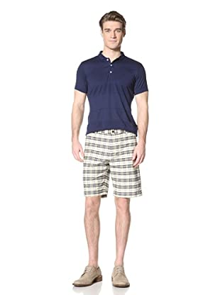 Ben Sherman Men's Oxford Check Short (Yellow Sand)