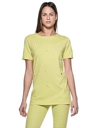 Crema Camiseta Lacitos (Verde)