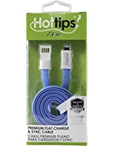 hottips premium charge and synch cable- 8pin blue