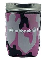 Jar-z GotMoonshinePCamoP Mason Jar Jacket, 1 pint, Pink Camo