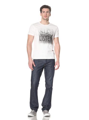 Tee Library Men's Silent Listen T-Shirt (White)