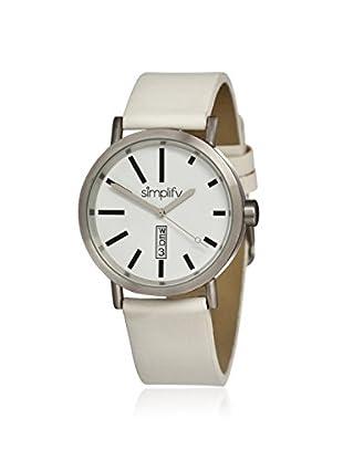 Simplify Men's SIM0402 The 400 White Leather Watch